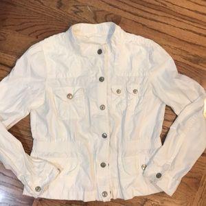 LOFT Ann Taylor White Utility Jacket